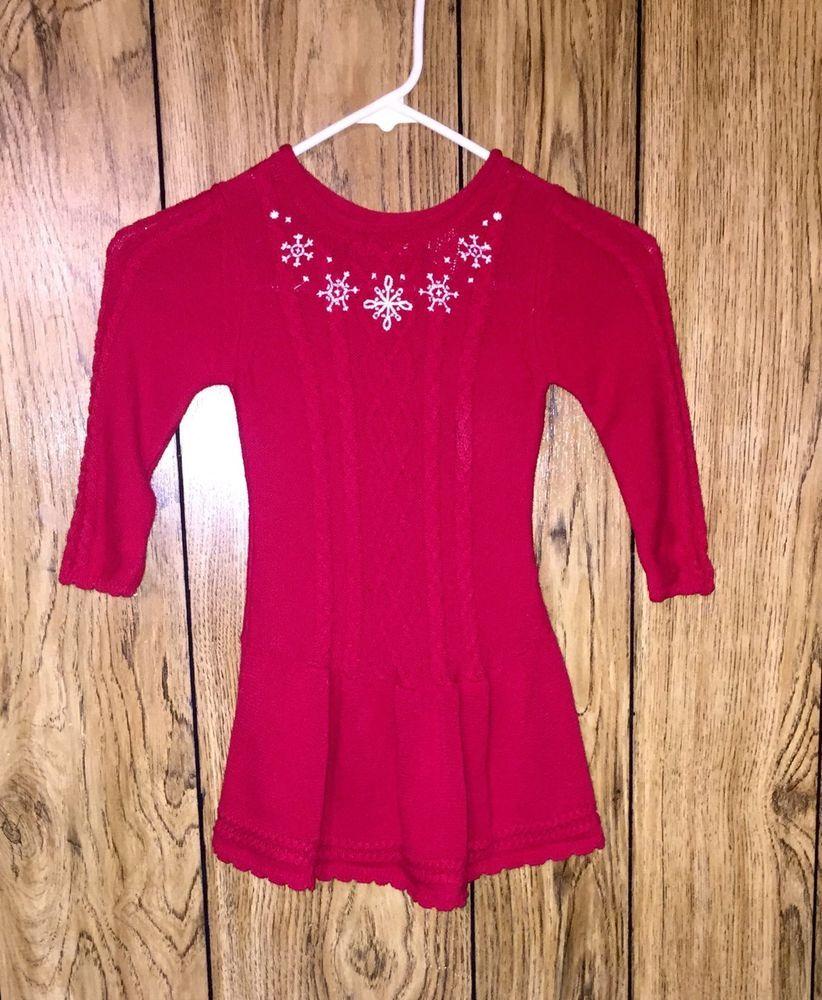 33db1e14e Blueberi Boulevard Toddler Girls Red Sweater Dress. Size 3T. Nice ...