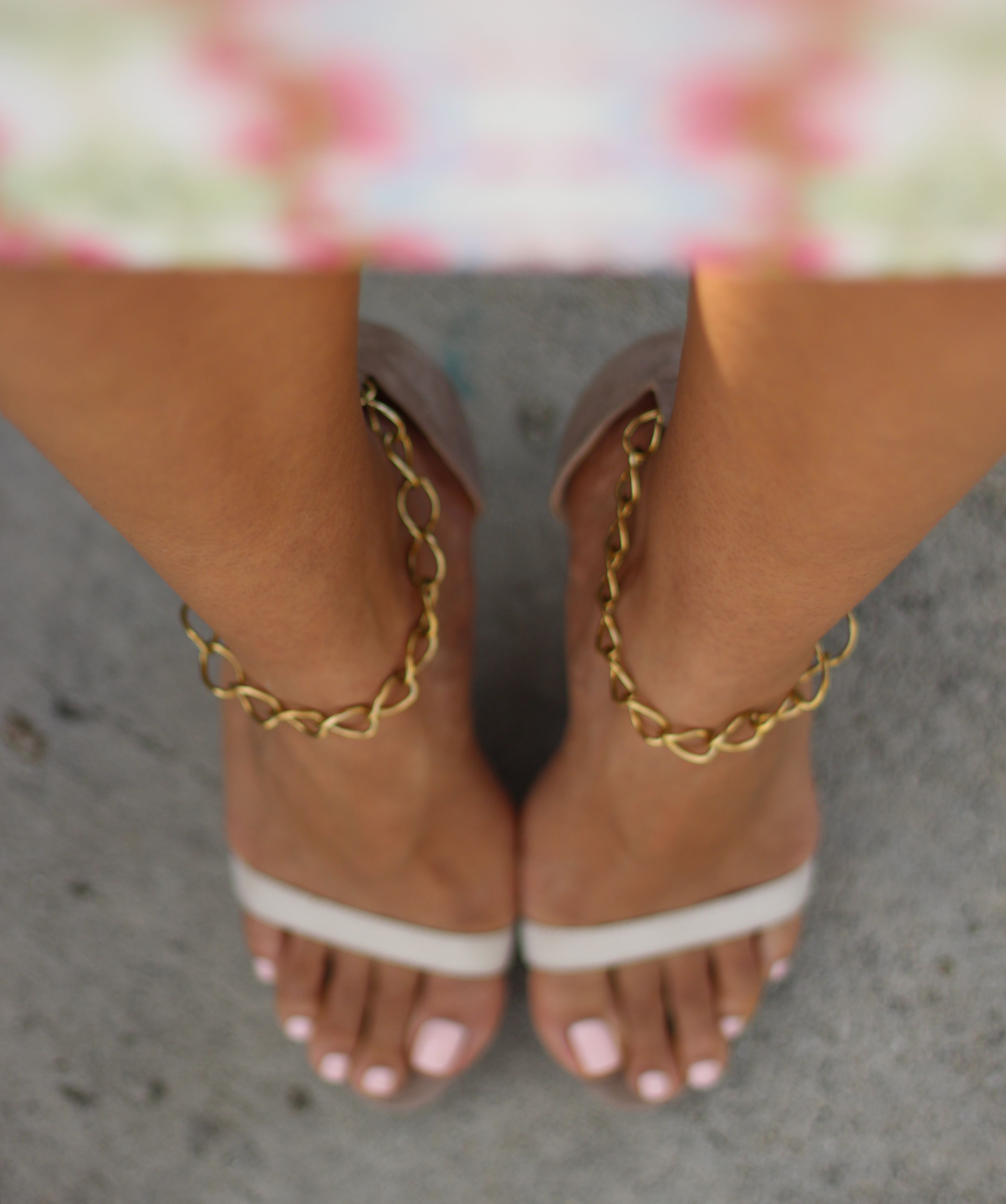 07e1215aa60c DIY Chain Ankle Strap for Sandals