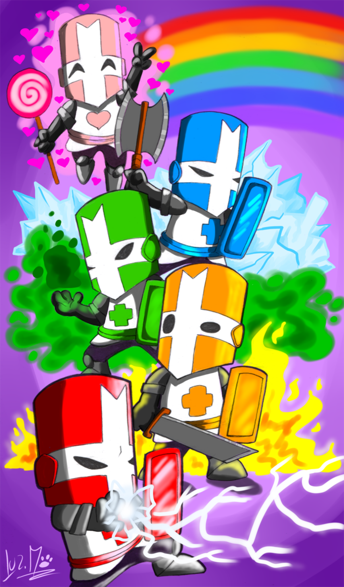 They See Me Crashin By Chocolatechilla On Deviantart Castle Crashers Game Art Character Art