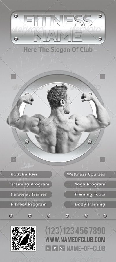 Fitness and Bodybuilding Rollup Banner 07 #Affiliate #Bodybuilding, #spon, #Fitness, #Rollup, #Banne...
