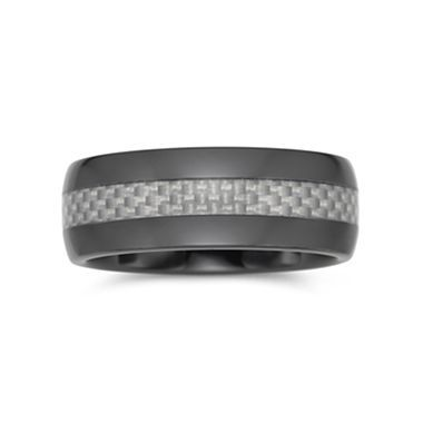 mens wedding band ceramic carbon fiber jcpenney - Jcpenney Mens Wedding Rings