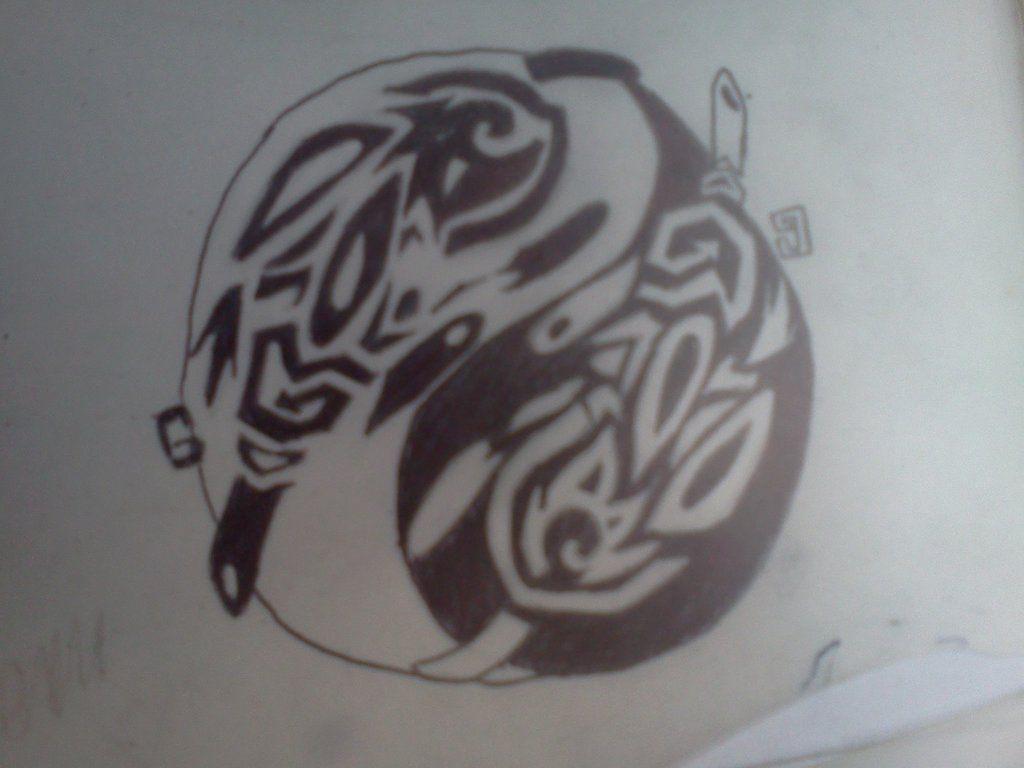 Owl greeting card set welsh artist jen delyth celtic art studio - Celtic Design Rabbit Yinyang