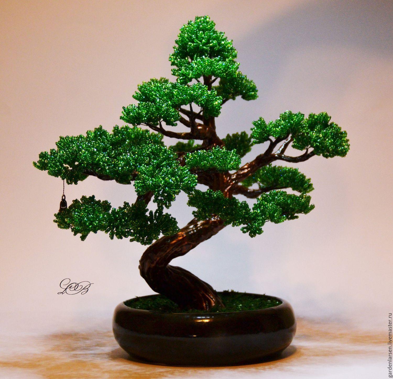 схема бисера дерева бонзай