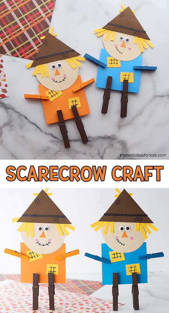 Scarecrow Craft (with free printable template)- The Best Ideas for Kids
