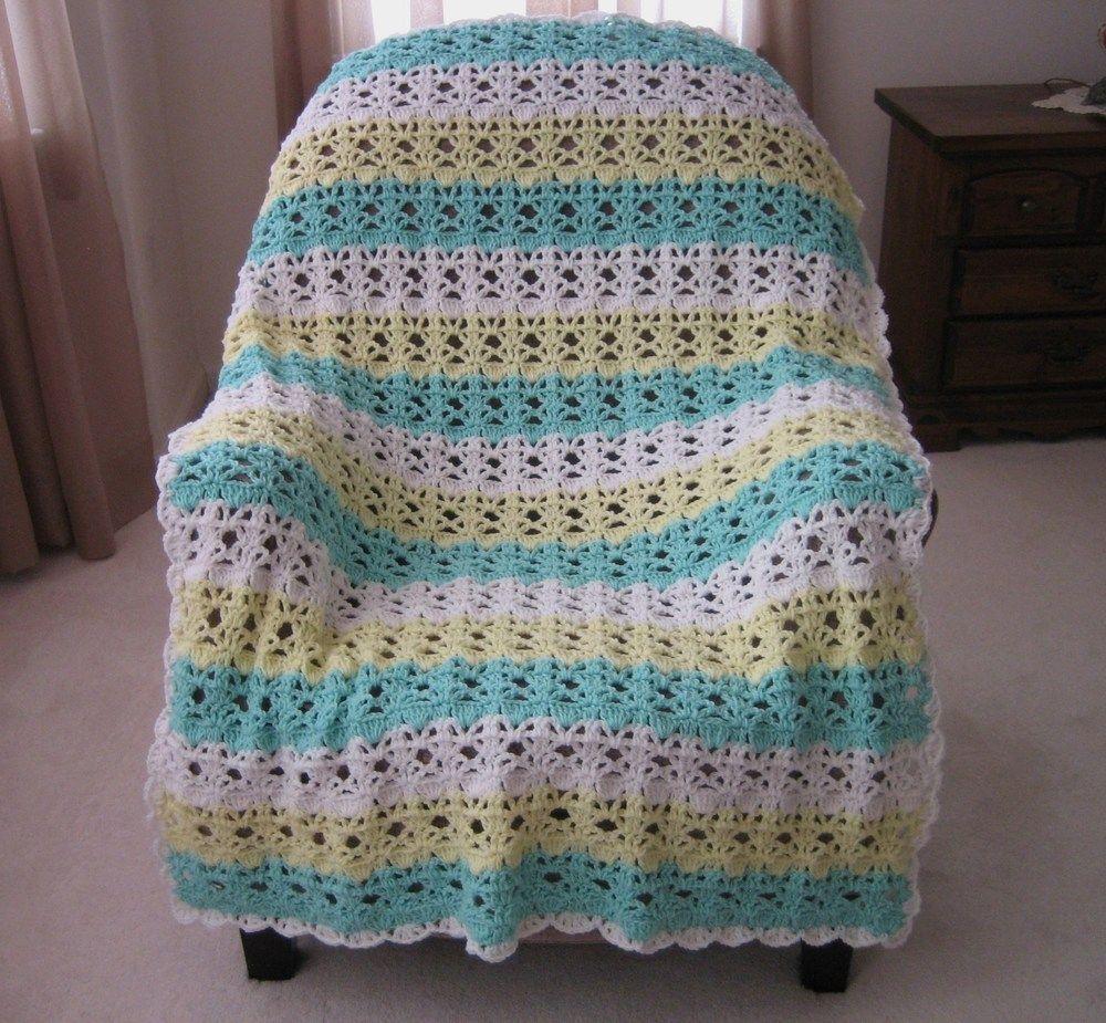Springtime Lace Easy Crochet Afghan Pattern | Bordes de ganchillo ...
