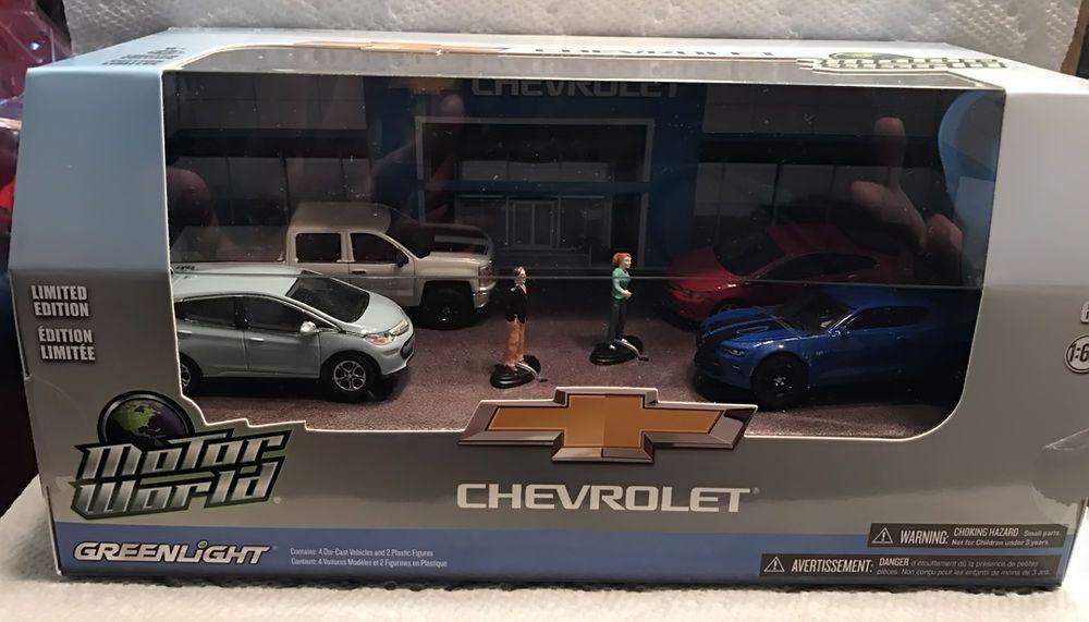 1 64 Greenlight Motor World Multi Car Dioramas Modern Chevrolet