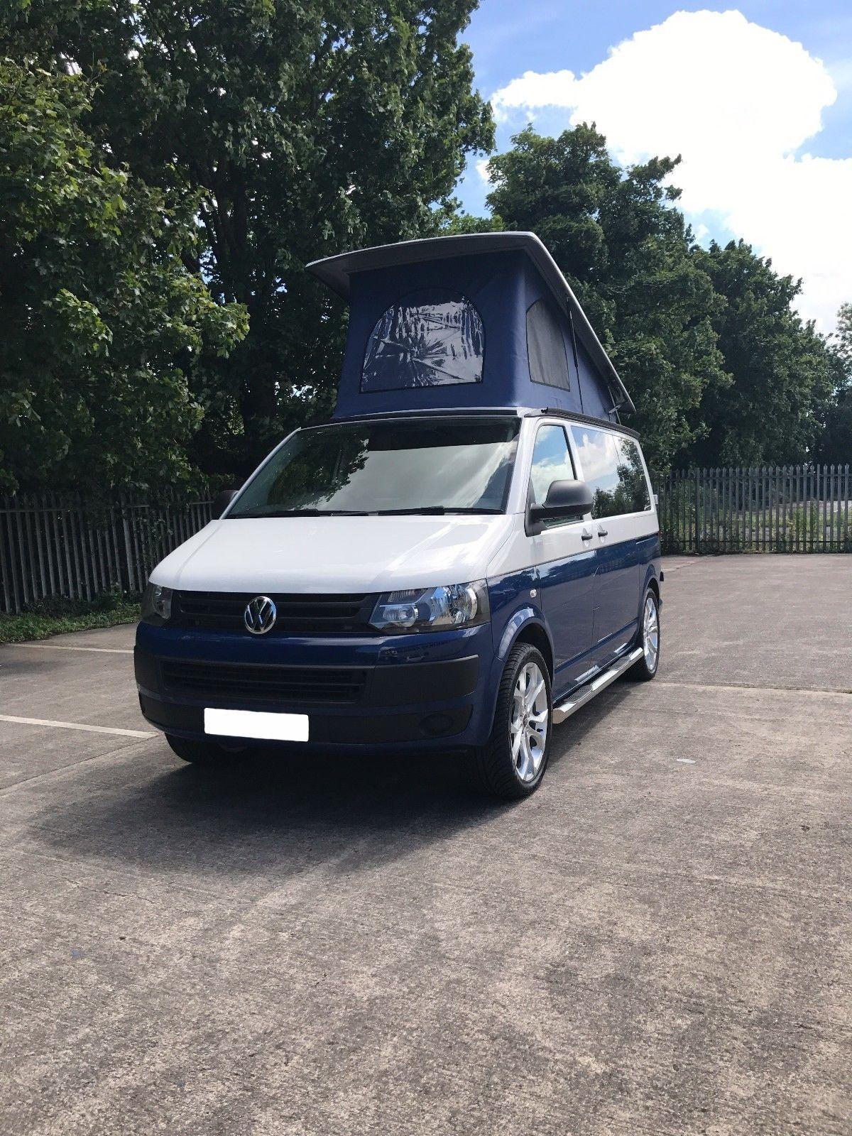 Ebay Vw T5 Royal Blue And White Two Tone Campervan Vwcamper Vwbus Vw Vw T5 Vw Transporter Camper Campervan