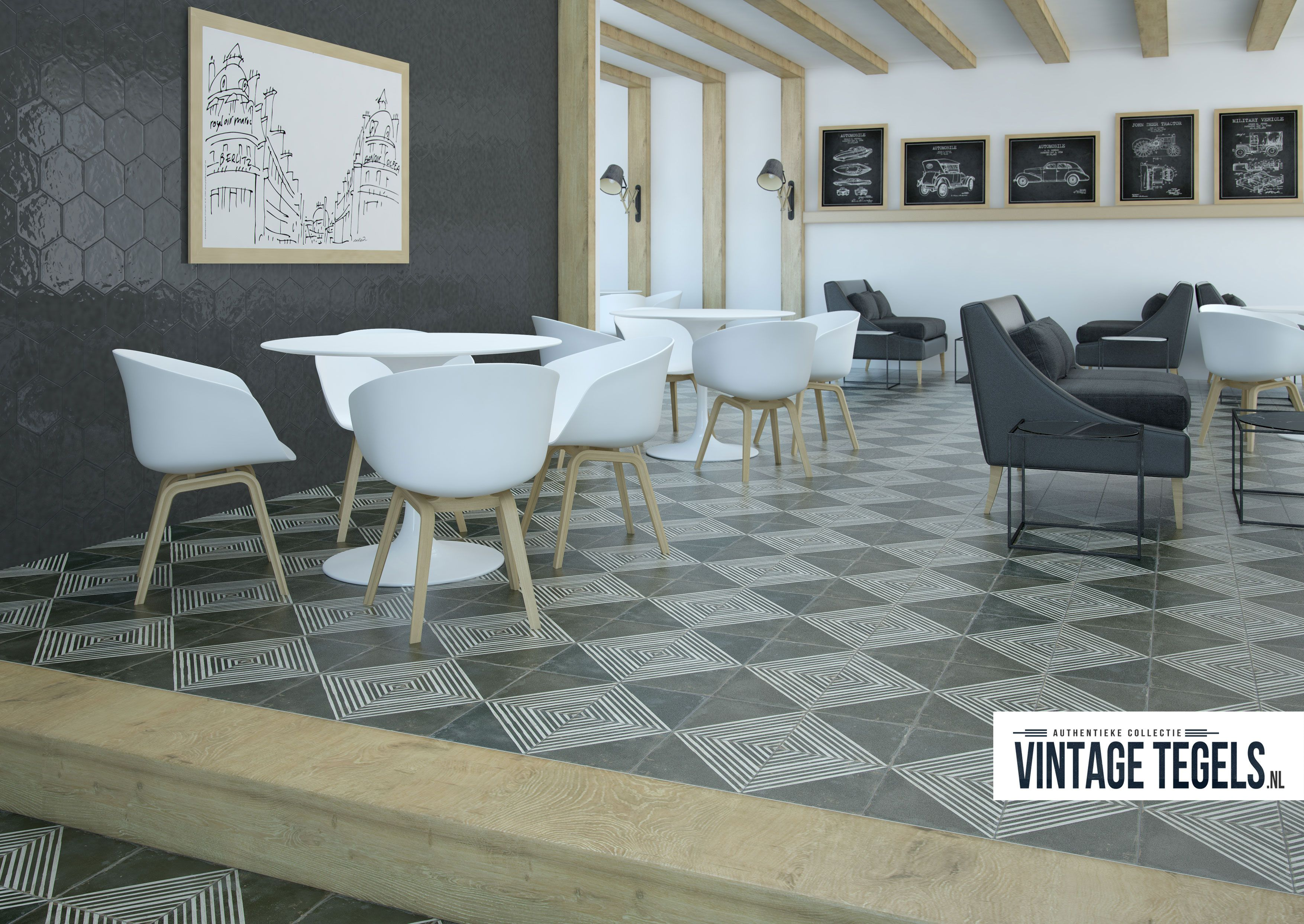 Vintage Tegels Badkamer : Portugese vloertegel rombos fs vintage tiles