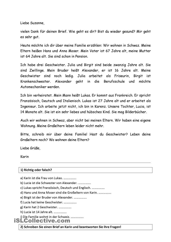 Pin Von Carmen Perez De La Cruz Auf German Brief Email Und Sms