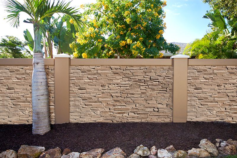 New texture for precast concrete fence walls with stacked for Precast texture