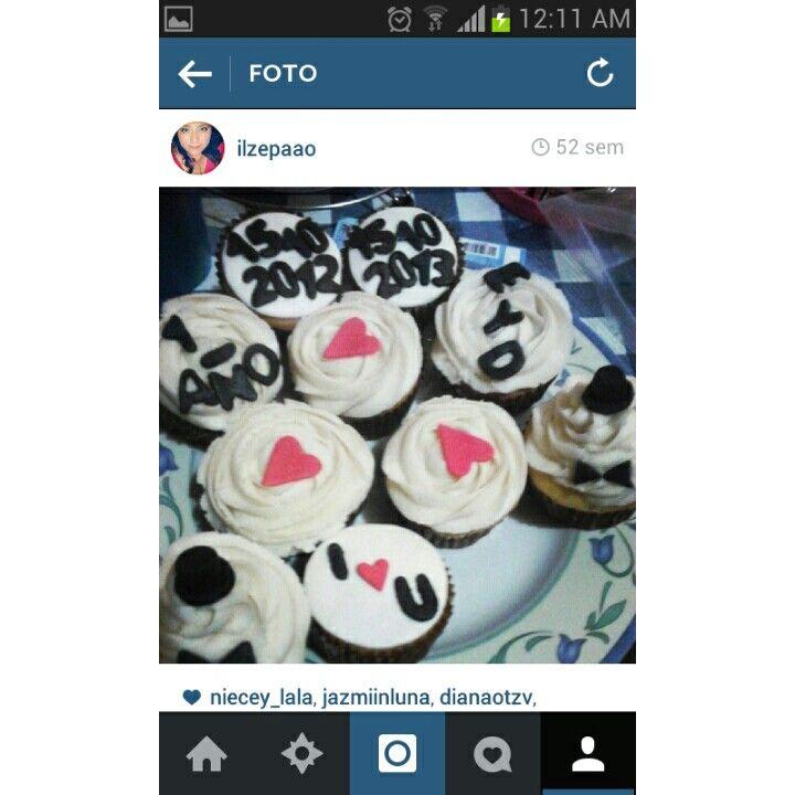 Cupcakes/novios/aniversario/ I love you /I❤u