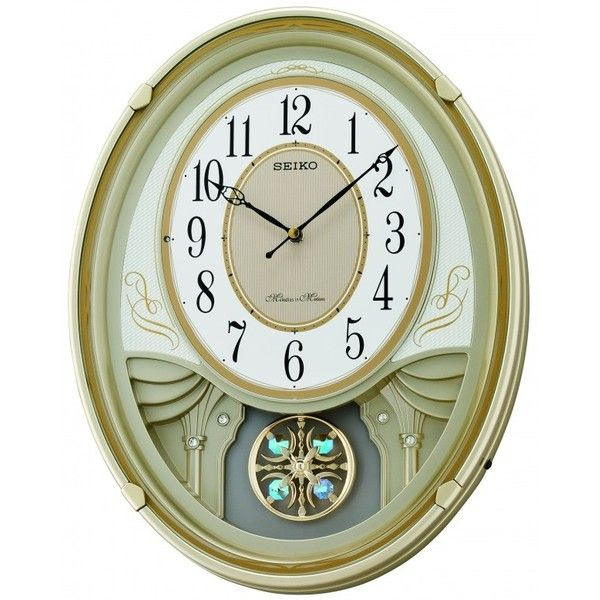 Seiko Clock Melodies In Motion Lucienne Musical Wall Clock 1 240 Vef Liked On Polyvore Featuring Home Home Dec Clock Wall Clock Seiko Wall Clock