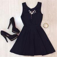 d157c0a221 2016 verão moda vestido preto sem mangas fino Vestidos Sexy Vestidos nova  marca Desigual Vestidos Plus Size