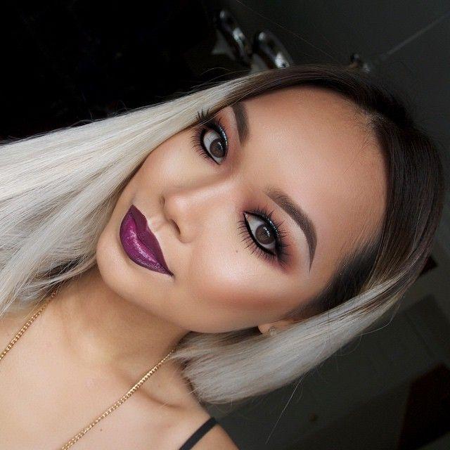 "angexla's Instagram posts | Pinsta.me - Instagram Online Viewer. @lagirlcosmetics concealer & Lip paint glazed gloss in ""Daring"" with @maccosmetics ""Vino"" lipliner."