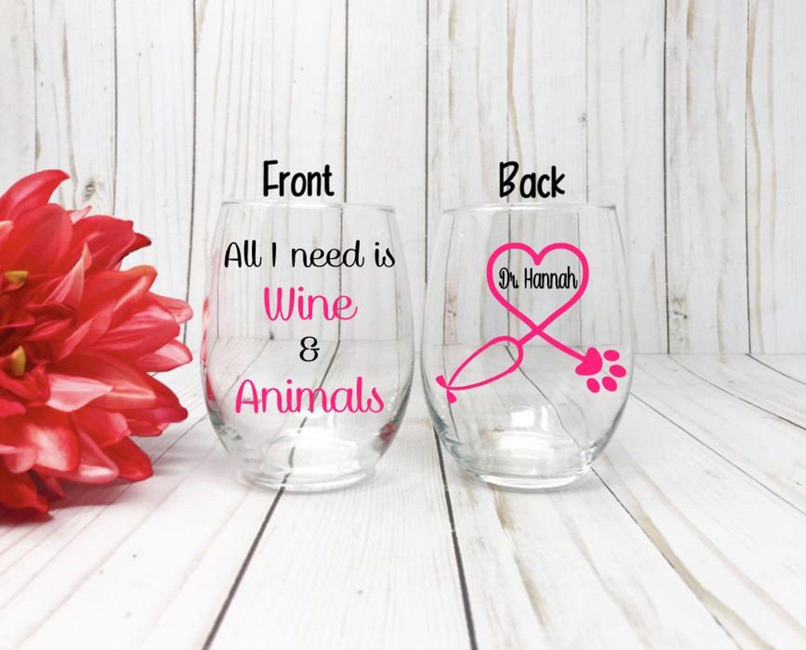 Veterinarian Appreciation Glass Veterinarian Gift Vet Gift