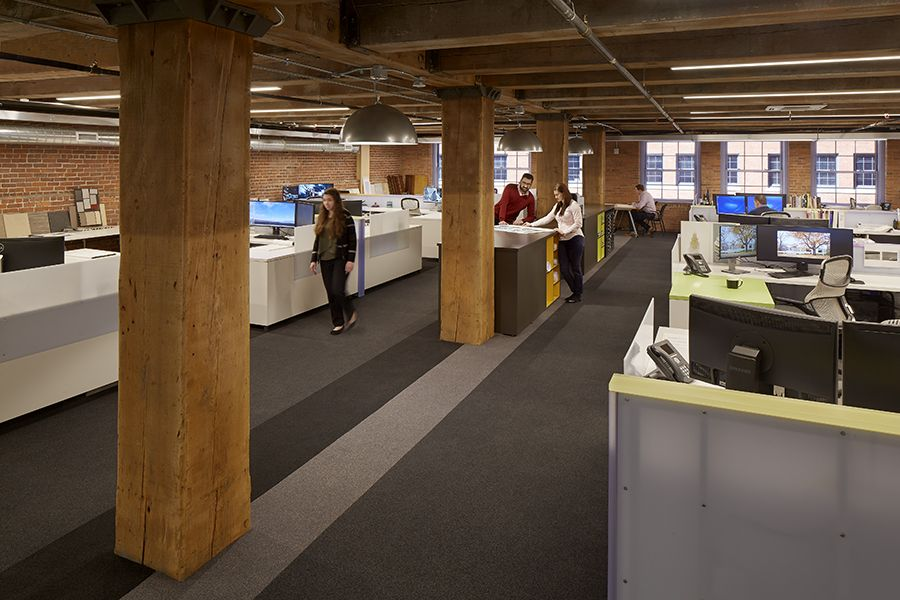 Open Space Office Design With Breakout Spaces Allow Team Members
