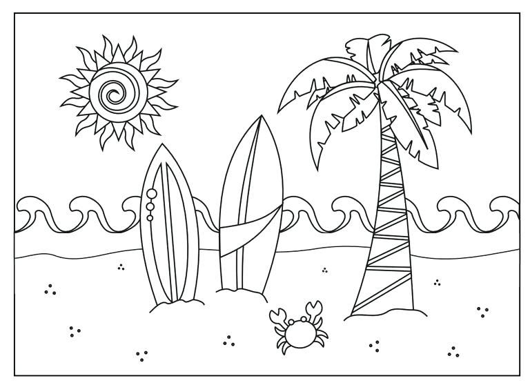 Summer Printable Coloring Pages 28 Or Summer Printable ...