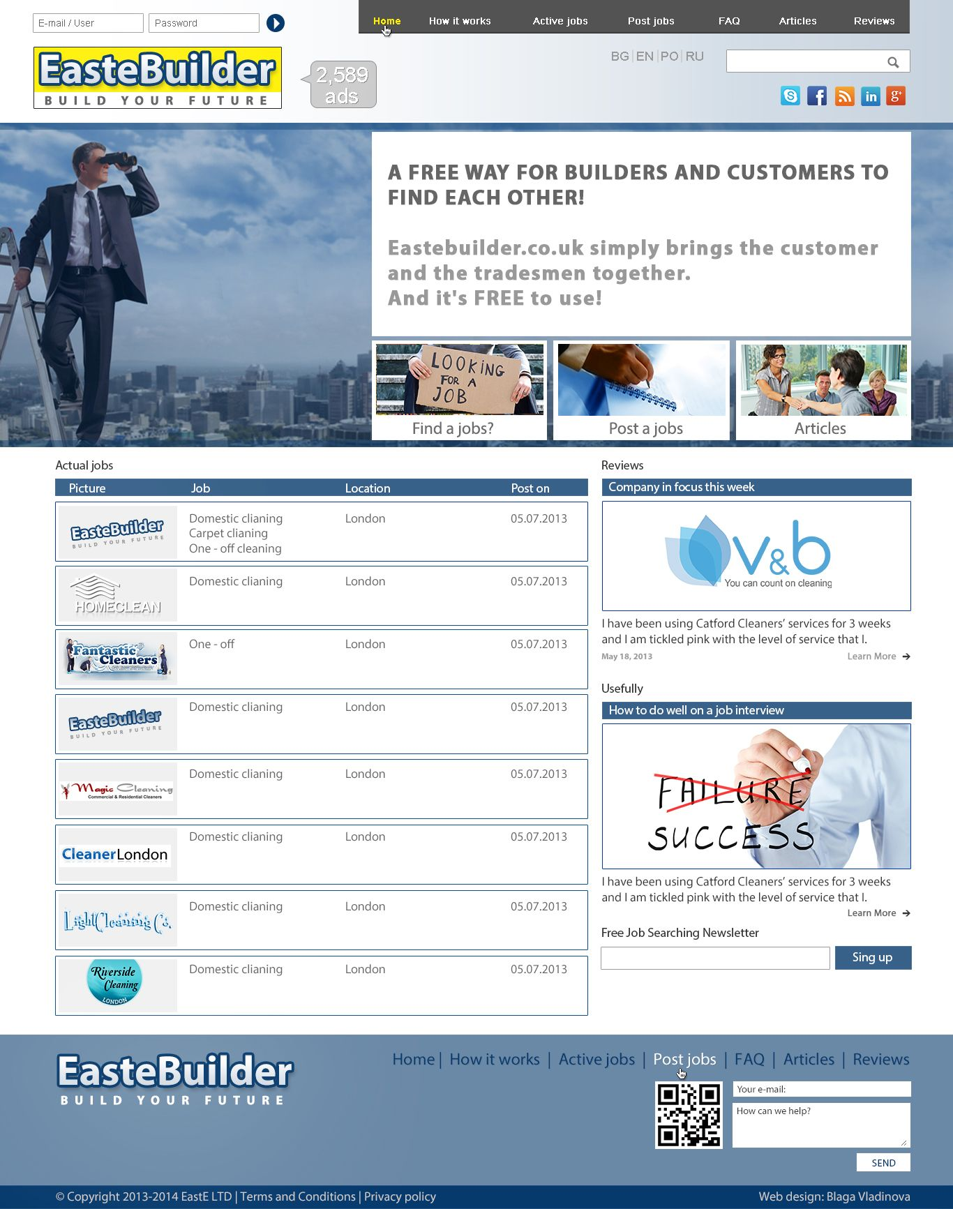 Index Page Builder Find A Job Web Design Job Posting
