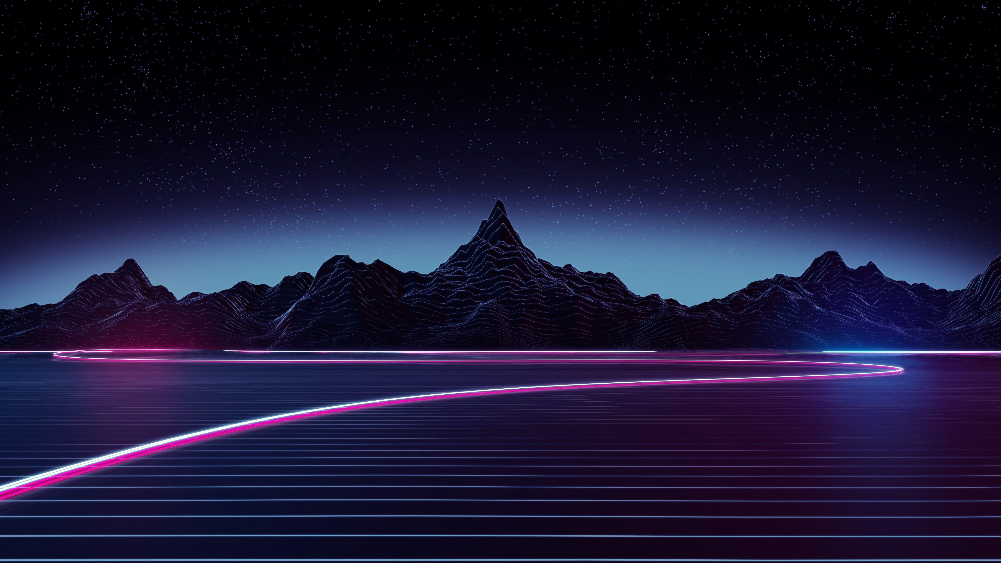 3840x2160 Neon 4k Free Pc Wallpaper Hd Wallpapers Para Pc Papel De Parede Vaporwave Ondas Retro