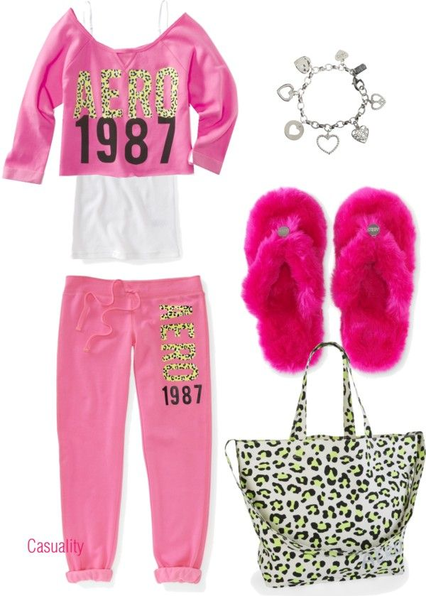 dc5e67fdd Aeropstale Pajama Party | Polyvore | Sleepover outfit, Pajamas, Teen ...