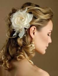 Resultado de imagem para penteados cabelos curtos noivas