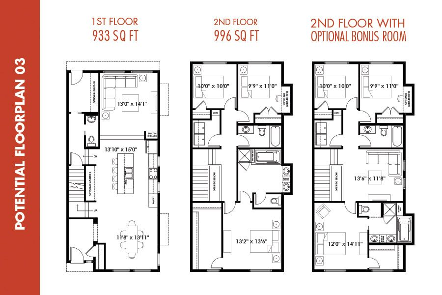infill floor plans  narrow plot