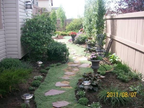 Enchanting Small Garden Landscape Ideas With Stepping Walk: Front Yard Garden