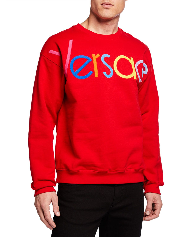Men's multicolor logo sweatshirt in 2020 Versace t shirt