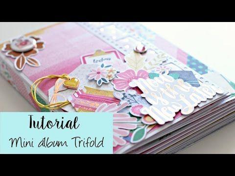 Mini Album scrapbook con mucha capacidad, estilo foto folio, con la colección Oh My Heart de Pink Paislee.