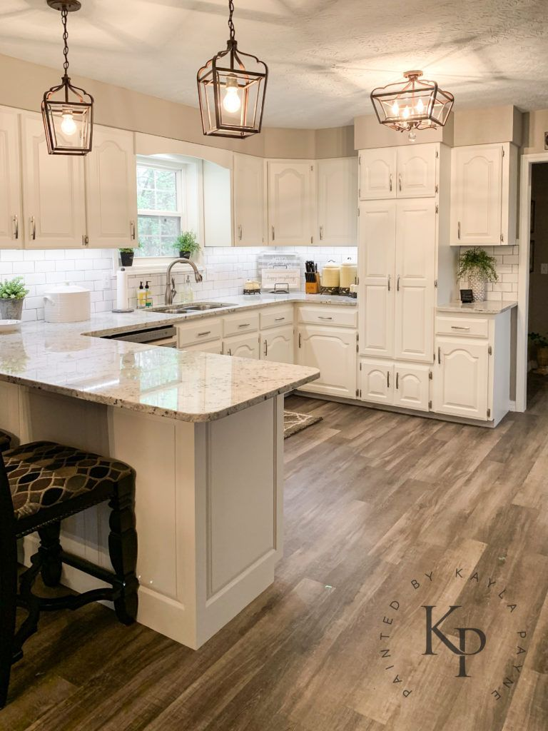Painting Oak Kitchen Cabinets Sherwin Williams Alabaster Kitchen Cabinets In Alabas In 2020 Oak Kitchen Cabinets Painted Kitchen Cabinets Colors New Kitchen Cabinets
