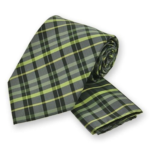 Lime Green Summer Plaid Tie and Pocket Square Sets. $12.95 ...