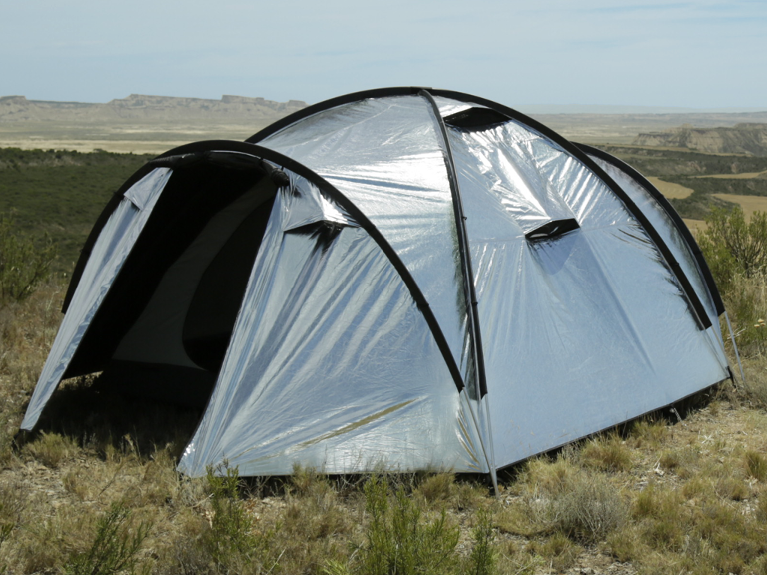 Ultra-reflective fly fabric + built-in fans = the best possible