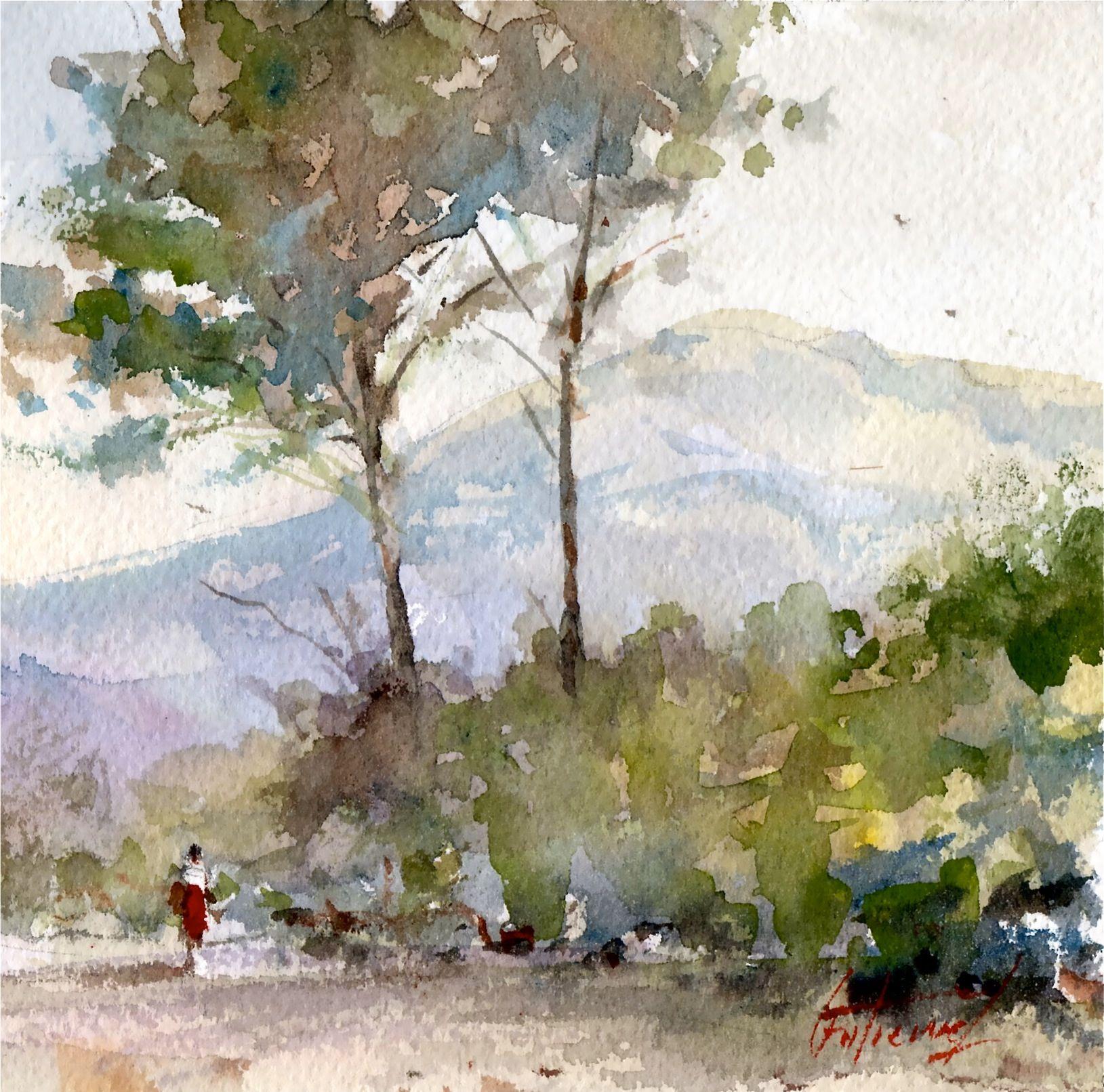 La Montagne Sainte Victoire Les Grands Pins Par Pierre Gutierrez