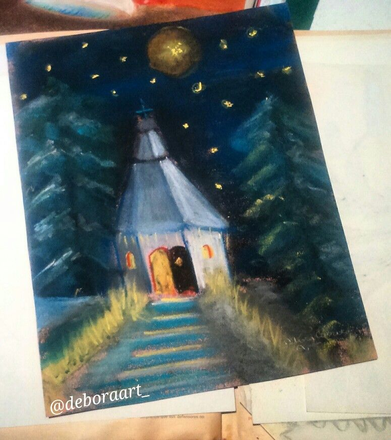 #house #night #forest #drawings #dibujos #spain