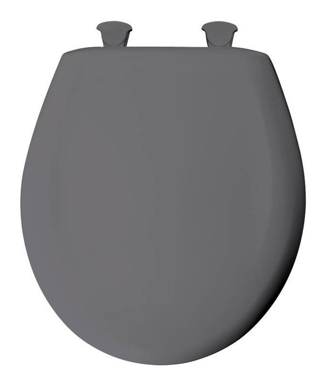 Lift-Off Plastic Round Toilet Seat