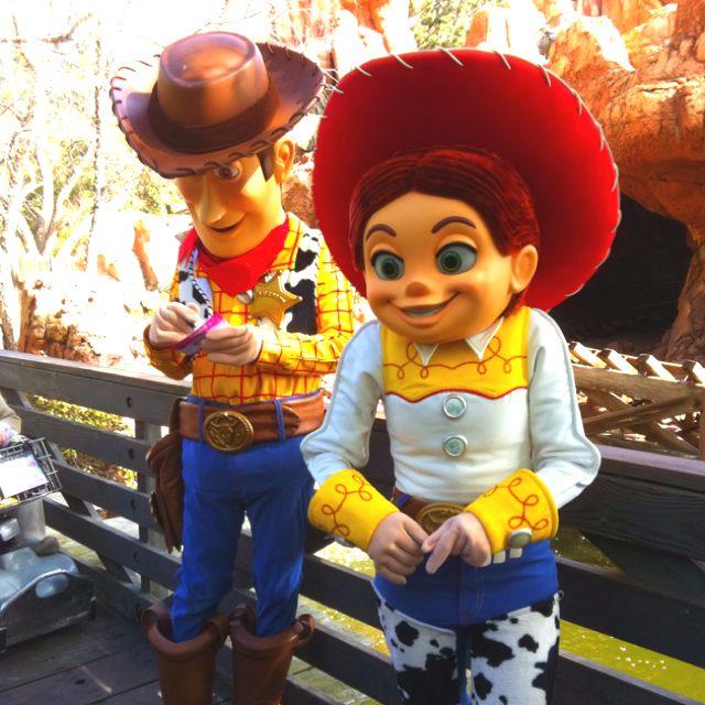 Woody and Jessie Disneyland