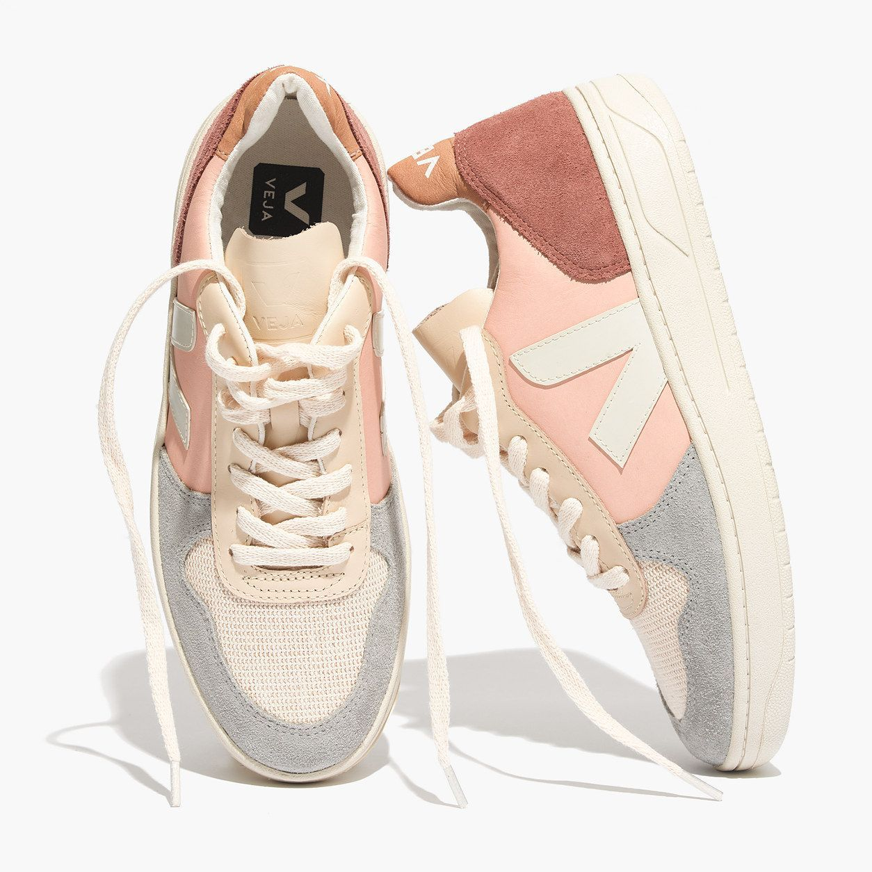 c109110b837b Madewell Womens Veja V-10 Sneakers In Colorblock | Products | Shoes ...