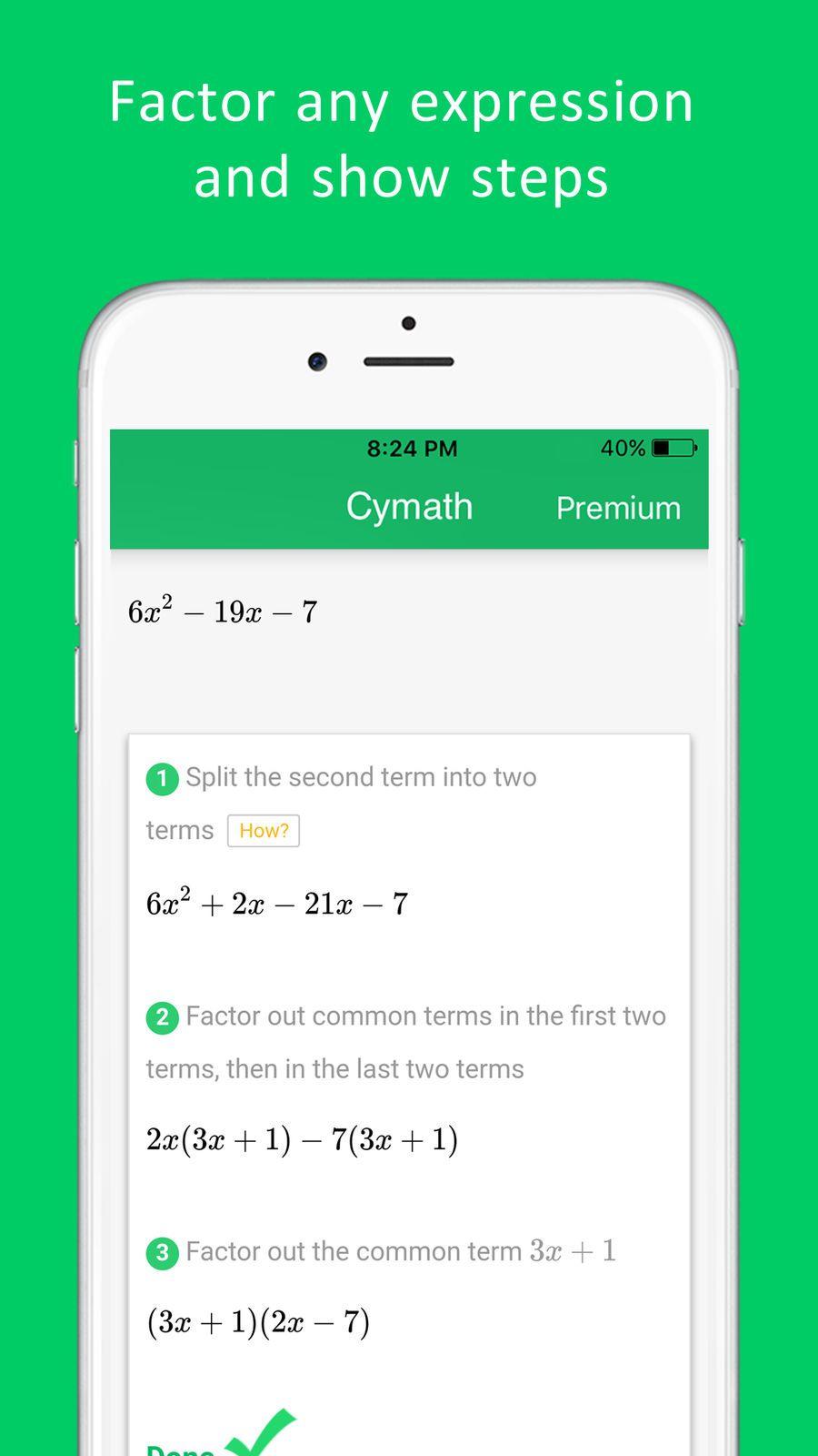 Cymath Math Problem Solver EducationLLCappsios