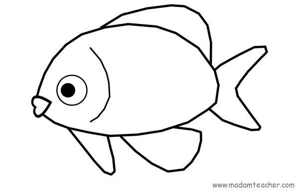 Balıklar Boyama Sayfaları Okul öncesi Etkinlik Faliyetleri