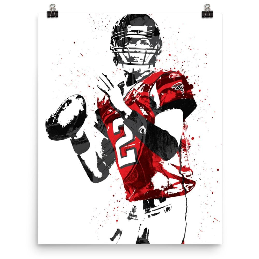 Matt Ryan Atlanta Falcons Football Poster Atlanta Falcons Poster Atlanta Falcons Football Falcons Football