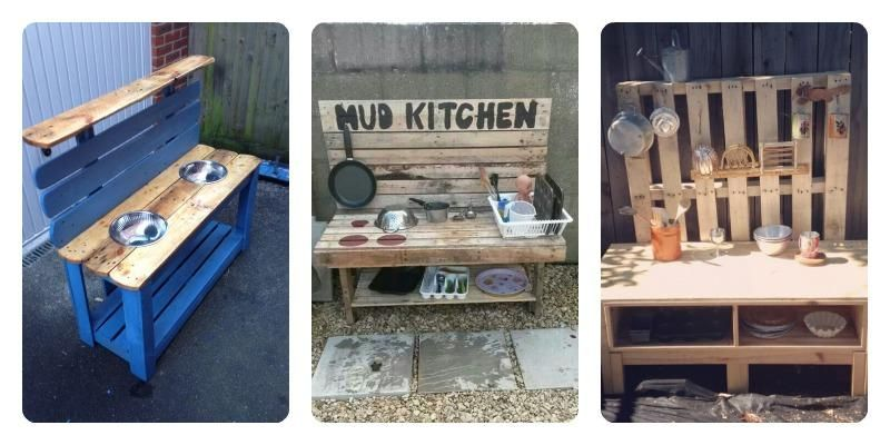Cocinas para niños hechas con palets. ¡Les encantará! | Cocina para ...