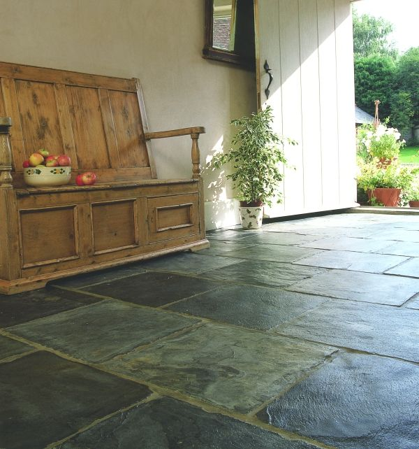Trevail Slate Riven Solid Blue Black Floor Tiles With A Finish To Create The Rustic Look Indoors Or Out Visit Our Website And Find Your Local