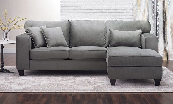 Excellent 100 Inch Contemporary Sofa With Reversible Chaise Living Creativecarmelina Interior Chair Design Creativecarmelinacom