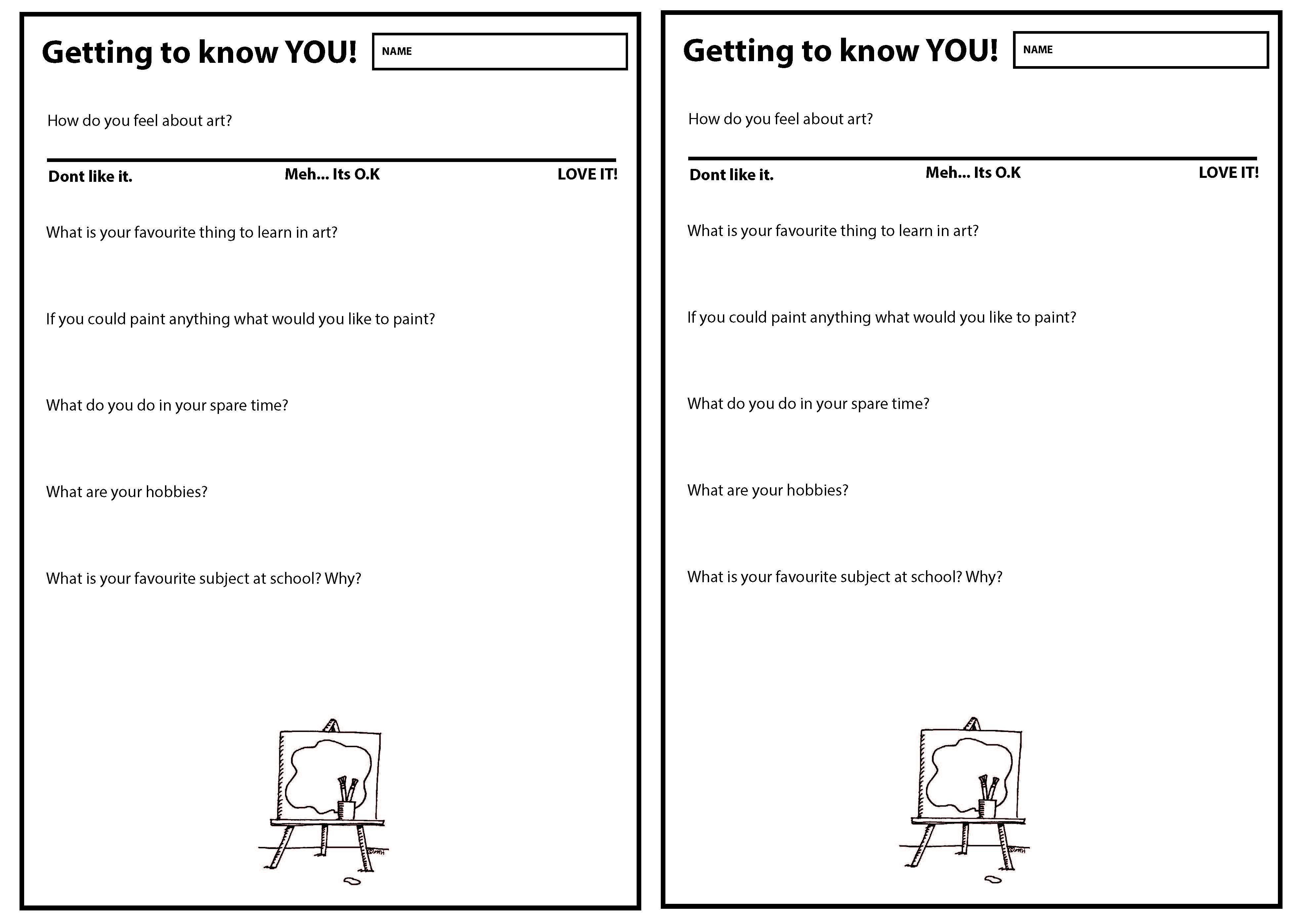 Intro Worksheet