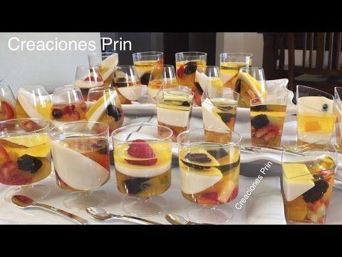 Gelatinas individuales con frutas, transparentes y 3 leches. - YouTube