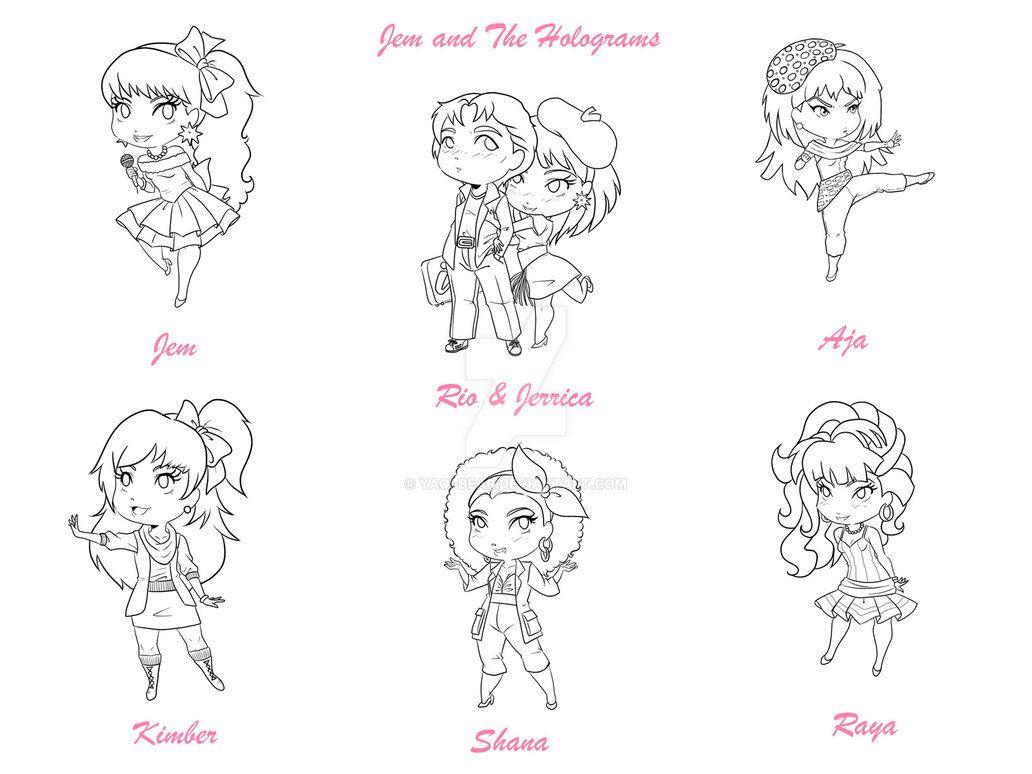 The Complete Jem Chibi Set by Yaoi-Bear