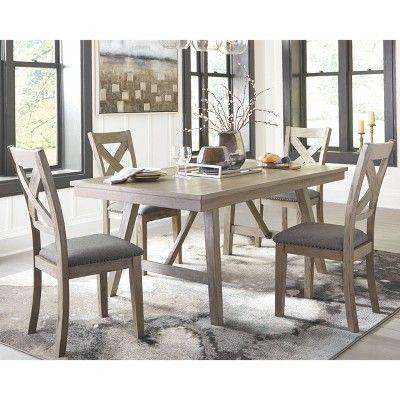 Aldwin Rectangular Dining Room Table Dark Gray Signature Design