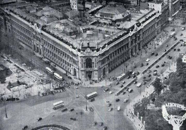 La sede del Banco de España en la plaza de Cibeles.