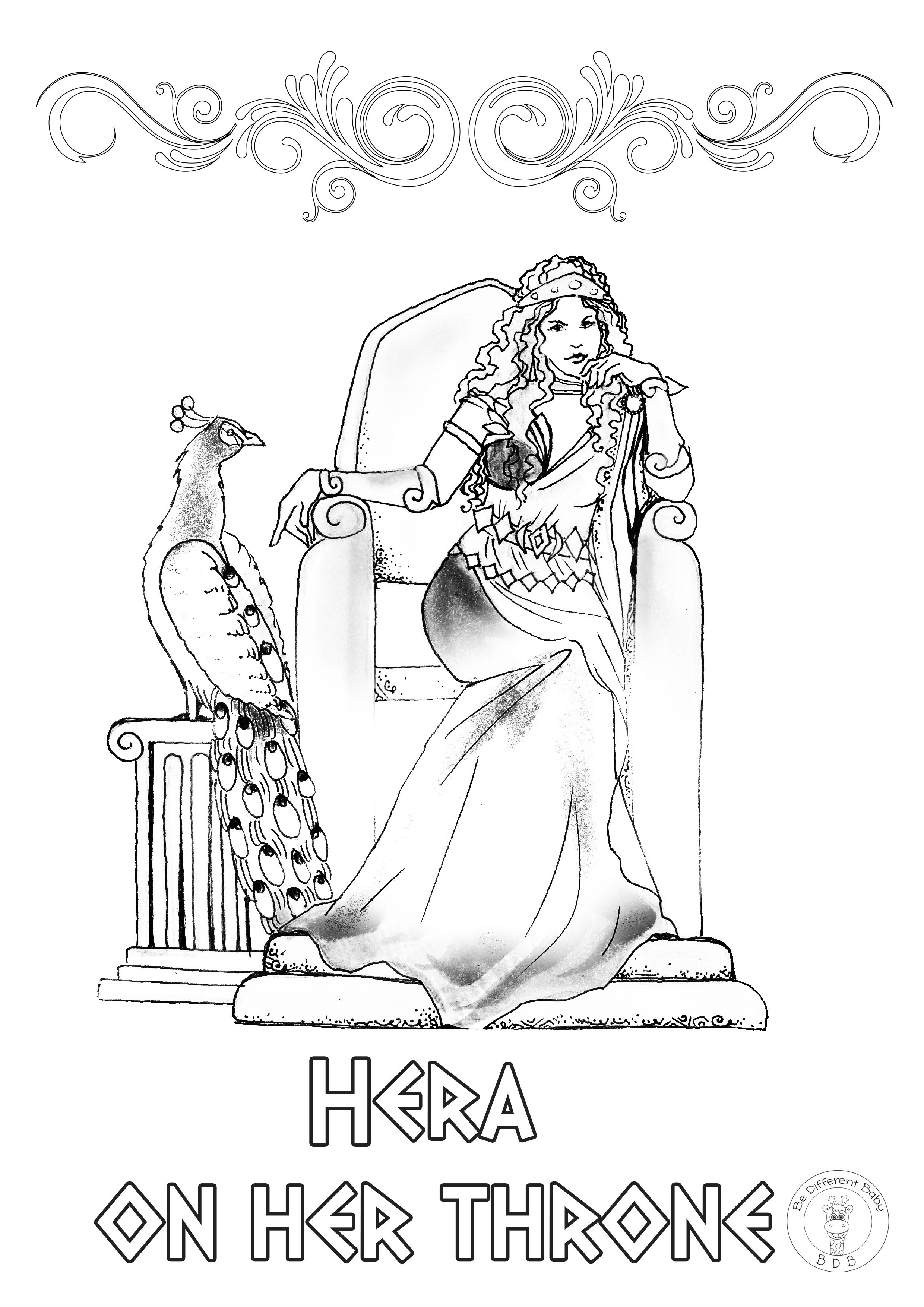 Greek Mythology Coloring Pages If You And Your Children Love Etsy In 2020 Gods And Goddesses Greek Mythology Greek Gods And Goddesses