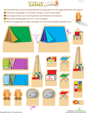 Camping Worksheet | Classroom ideas | Girl scout camping